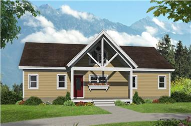 2-Bedroom, 1304 Sq Ft Cottage Home Plan - 196-1240 - Main Exterior