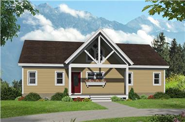 4-Bedroom, 2633 Sq Ft Ranch Home Plan - 196-1241 - Main Exterior