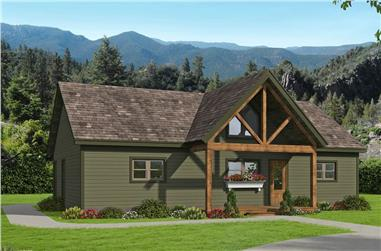 2-Bedroom, 1357 Sq Ft Ranch House - Plan #196-1242 - Front Exterior