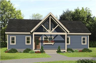 2-Bedroom, 1357 Sq Ft Ranch House - Plan #196-1243 - Front Exterior