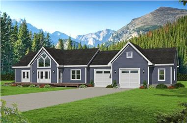 2-Bedroom, 1365 Sq Ft Ranch House Plan - 196-1244 - Front Exterior