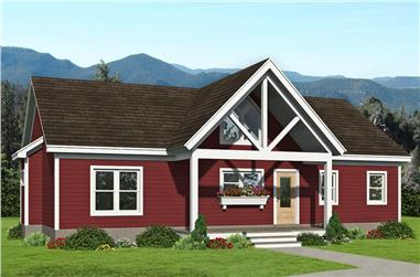 3-Bedroom, 1368 Sq Ft Ranch House Plan - 196-1245 - Front Exterior