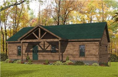 3-Bedroom, 2760 Sq Ft Ranch Home Plan - 196-1246 - Main Exterior