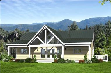2-Bedroom, 1500 Sq Ft Ranch House - Plan #196-1250 - Front Exterior