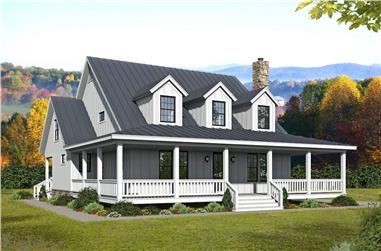 3-Bedroom, 2718 Sq Ft Contemporary Home Plan - 196-1252 - Main Exterior