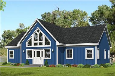 2-Bedroom, 1586 Sq Ft Ranch House Plan - 196-1253 - Front Exterior