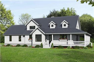 2-Bedroom, 2400 Sq Ft Farmhouse Home - Plan #196-1254 - Main Exterior
