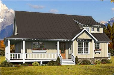 3-Bedroom, 2200 Sq Ft Farmhouse House Plan - 196-1255 - Front Exterior