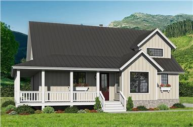 3-Bedroom, 2300 Sq Ft Farmhouse Home Plan - 196-1256 - Main Exterior