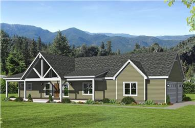 2-Bedroom, 1650 Sq Ft Ranch Home - Plan #196-1257 - Main Exterior