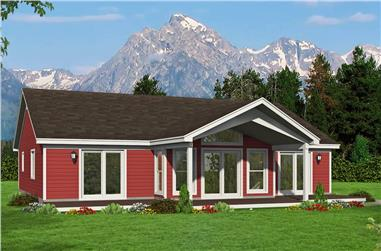 2-Bedroom, 1668 Sq Ft Ranch Home Plan - 196-1258 - Main Exterior