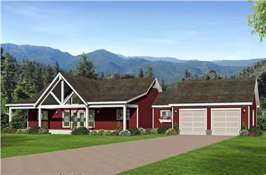 2-Bedroom, 1787 Sq Ft Ranch Home Plan - 196-1260 - Main Exterior