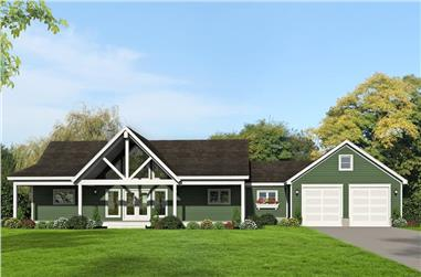 2-Bedroom, 1787 Sq Ft Ranch Home - Plan #196-1261 - Main Exterior
