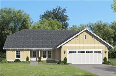 3-Bedroom, 2174 Sq Ft Ranch Home Plan - 196-1262 - Main Exterior
