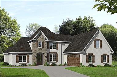 4-Bedroom, 3372 Sq Ft Luxury House - Plan #196-1263 - Front Exterior