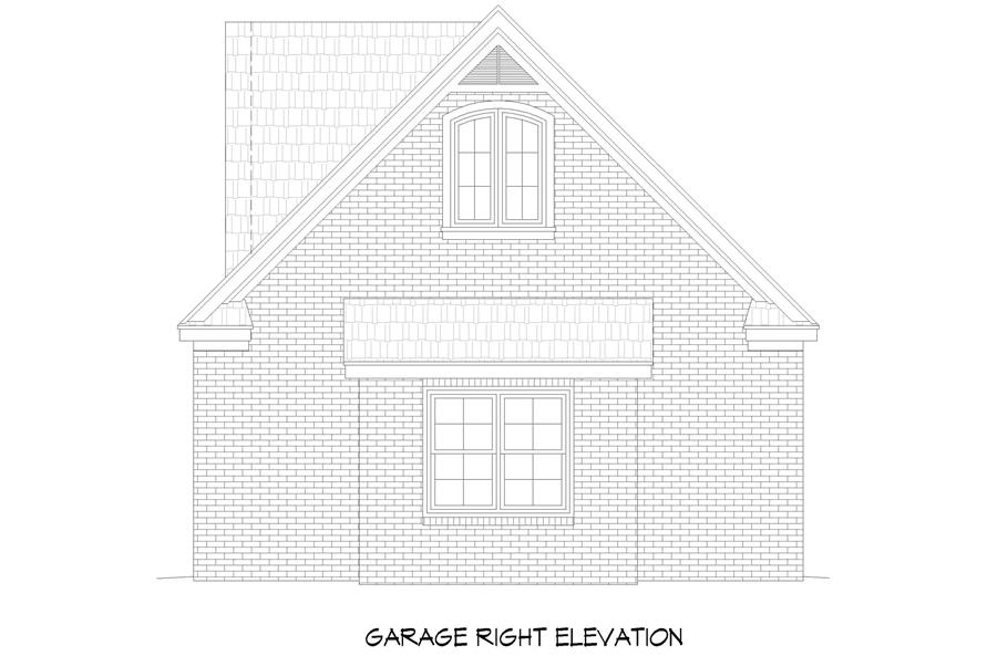 Home Plan Right Elevation of this 3-Bedroom,3510 Sq Ft Plan -196-1265