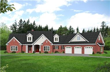 3-Bedroom, 3510 Sq Ft European Home Plan - 196-1265 - Main Exterior
