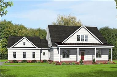 3–4-Bedroom, 3455 Sq Ft Luxury Home - Plan #196-1267 - Main Exterior