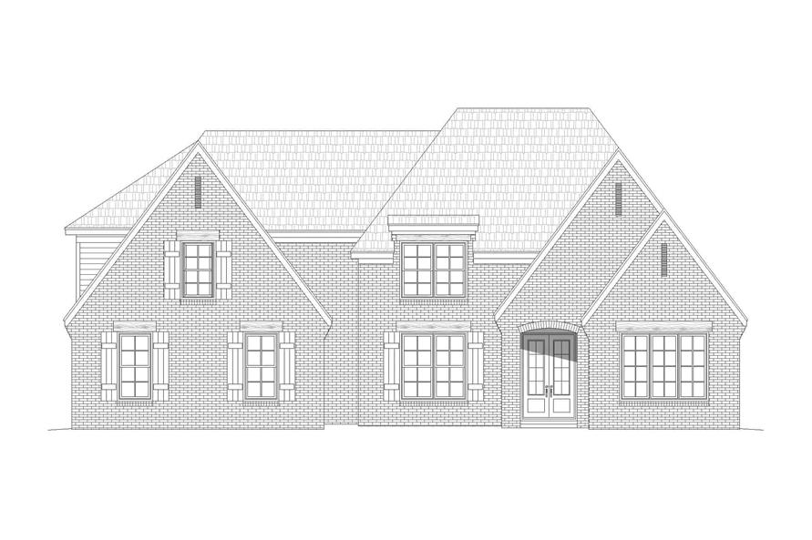 Home Plan Front Elevation of this 5-Bedroom,3781 Sq Ft Plan -196-1268