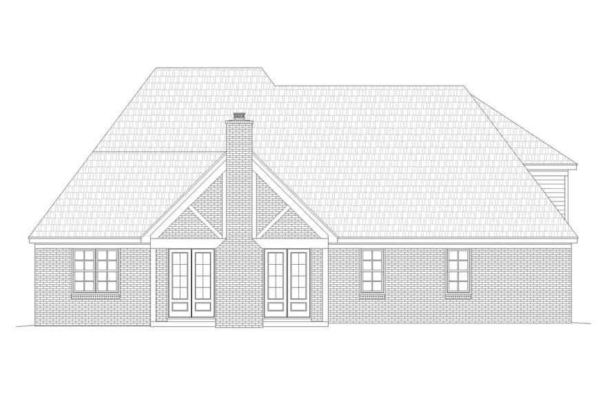 Home Plan Rear Elevation of this 5-Bedroom,3781 Sq Ft Plan -196-1268