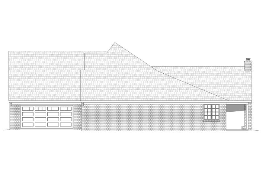 Home Plan Right Elevation of this 5-Bedroom,3781 Sq Ft Plan -196-1268