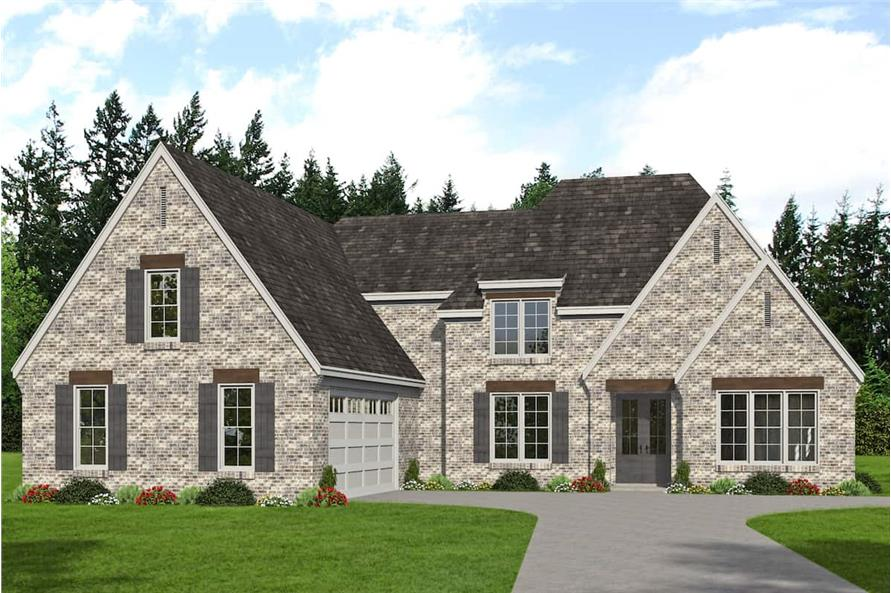 Front View of this 5-Bedroom,3781 Sq Ft Plan -196-1268