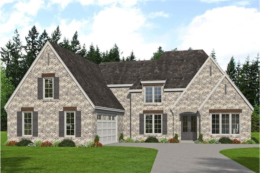5-Bedroom, 3781 Sq Ft French Home - Plan #196-1268 - Main Exterior