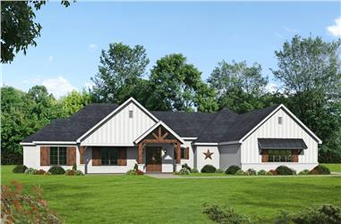 3–4-Bedroom, 2835 Sq Ft Ranch House - Plan #196-1270 - Front Exterior