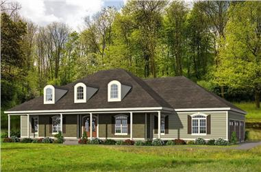 4-Bedroom, 3480 Sq Ft Ranch Home - Plan #196-1271 - Main Exterior