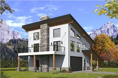 2-Bedroom, 1571 Sq Ft Contemporary Home - Plan #196-1275 - Main Exterior