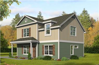 3–4-Bedroom, 1840–2765 Sq Ft Farmhouse House Plan - 196-1276 - Front Exterior