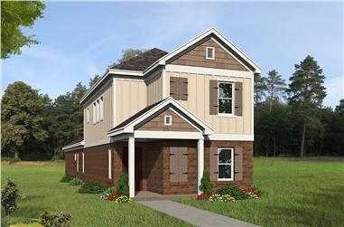 3-Bedroom, 1888 Sq Ft Colonial House - Plan #196-1279 - Front Exterior