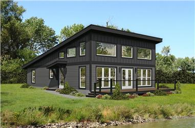2-Bedroom, 1412 Sq Ft Contemporary Home - Plan #196-1280 - Main Exterior