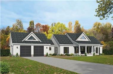 4-Bedroom, 3321 Sq Ft Modern Farmhouse - Plan #196-1284 - Main Exterior
