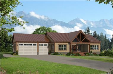 2-Bedroom, 1763 Sq Ft Ranch Home - Plan #196-1285 - Main Exterior