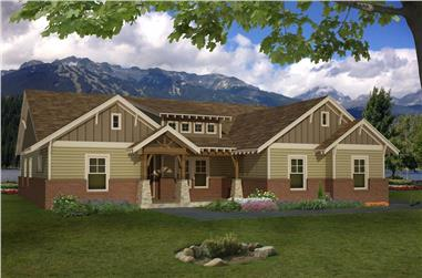 4-Bedroom, 2440 Sq Ft Arts and Crafts Home - Plan #196-1286 - Main Exterior