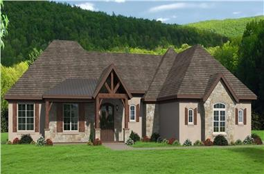 3-Bedroom, 2709 Sq Ft French House - Plan #196-1287 - Front Exterior