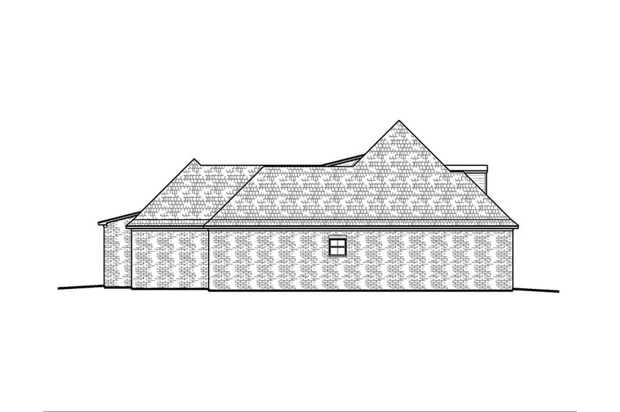 Home Plan Left Elevation of this 4-Bedroom,2246 Sq Ft Plan -197-1000