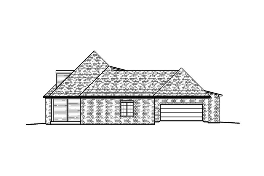 Home Plan Right Elevation of this 4-Bedroom,2246 Sq Ft Plan -197-1000