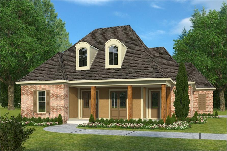 4-Bedroom, 2246 Sq Ft French House Plan - 197-1000 - Front Exterior