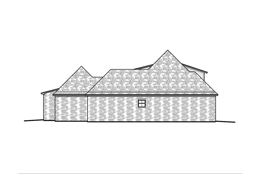 Home Plan Left Elevation of this 4-Bedroom,2246 Sq Ft Plan -197-1001