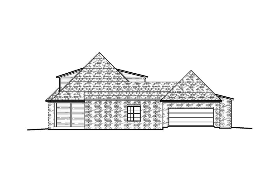 Home Plan Right Elevation of this 4-Bedroom,2246 Sq Ft Plan -197-1001