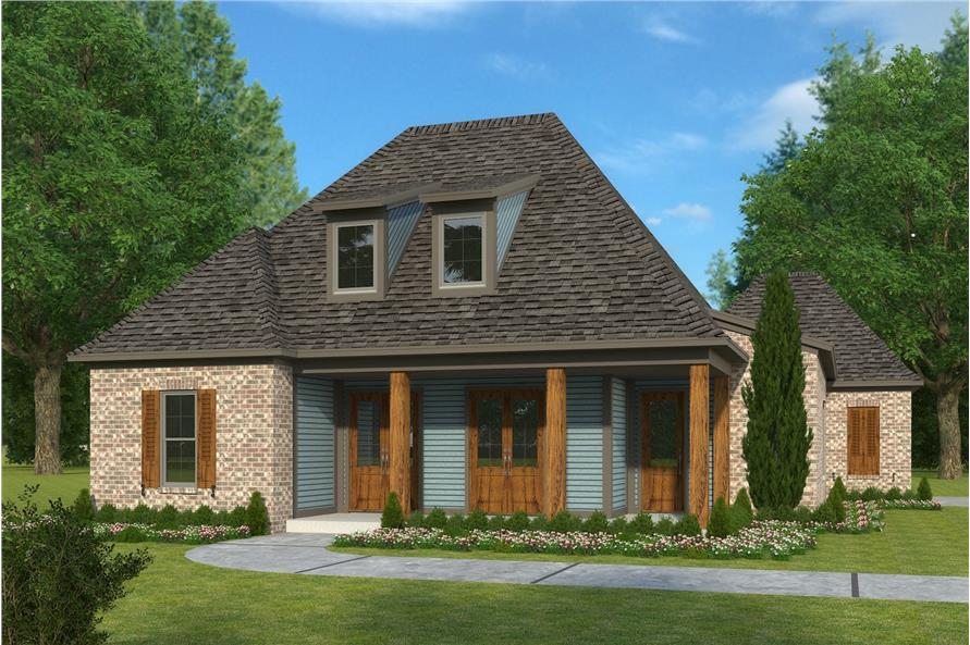 4-Bedroom, 2246 Sq Ft French House Plan - 197-1001 - Front Exterior