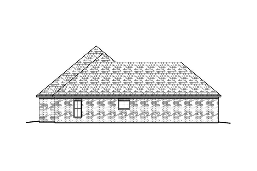 Home Plan Left Elevation of this 3-Bedroom,1953 Sq Ft Plan -197-1002