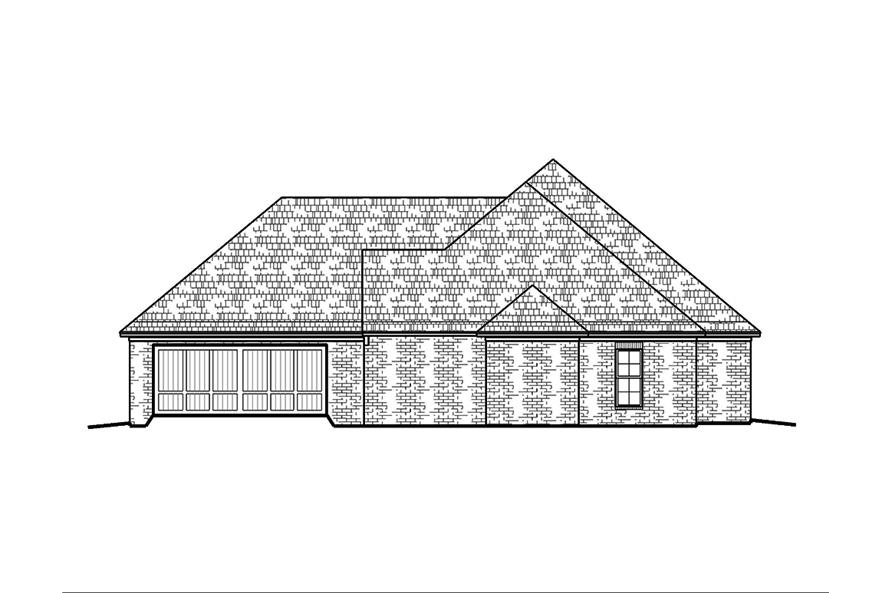 Home Plan Right Elevation of this 3-Bedroom,1953 Sq Ft Plan -197-1002