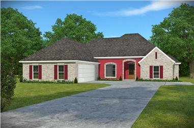 3-Bedroom, 1953 Sq Ft French House Plan - 197-1002 - Front Exterior