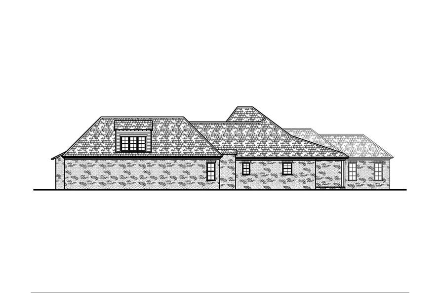 Home Plan Right Elevation of this 5-Bedroom,3004 Sq Ft Plan -197-1003