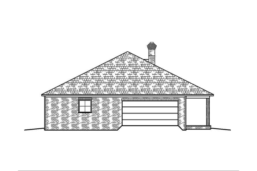 Home Plan Left Elevation of this 3-Bedroom,1672 Sq Ft Plan -197-1004