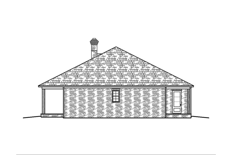 Home Plan Right Elevation of this 3-Bedroom,1672 Sq Ft Plan -197-1004