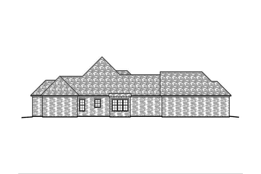 Home Plan Left Elevation of this 4-Bedroom,2882 Sq Ft Plan -197-1005